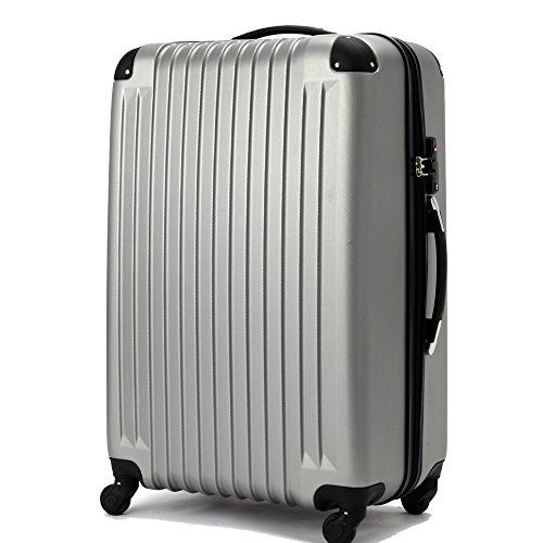 (ファーストドア) 1STDOOR 超軽量スーツケース TSAロック付 (Sサイズ(34L), グレー)