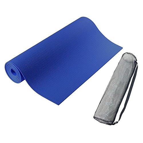 PURE RISE(ピュアライズ) ヨガマット バッグ付き 厚さ 6mm (ブルー)