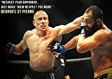 Georges St-Pierre Respect Your Opponent Quote Poster A1 A2 A3 A4 GSP MMA Kickboxer by Workshop37 [並行輸入品]