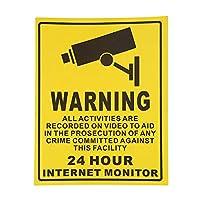 Homyl 屋内屋外の使用のための10x警告CCTV 24時間インターネットモニターステッカー