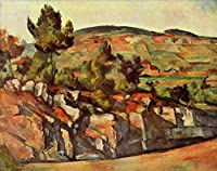 ¥5K-200k 手書き-キャンバスの油絵 - 美術大学の先生直筆 - 山脈 in Provence ポール・セザンヌ 絵画 洋画 複製画 ウォールアートデコレーション -サイズ15