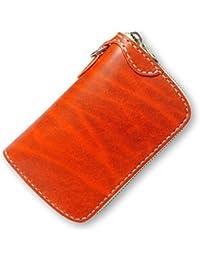 【サムライクラフト】 ラウンドファスナーウォレット タイプ3-R ミドルサイズ ラウンドタイプ ルガトショルダー オレンジ 革財布 ハンドメイド