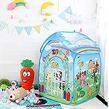 子供のテント漫画のゲームのおもちゃの家のボールプールのテント - 屋内屋外の子供のプロジェクターおもちゃのテントと動物園の子供のテント