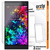 Orzly Razer Phone 2 Screen Protector, Triple Pack of Tempered Glass Screen Protectors for Razer Phone 2, Full Screen Coverage (Fits Razer 2 Model only, not for Razer 1), Anti Scratch, Transparent
