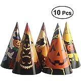BESTOYARD ハロウィンペーパーDIY帽子パーティー帽子帽子ハロウィン子供用のサプライズ子供の魅力(ランダムパターン)10 PCS