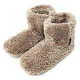 ミコラ 北欧 あったか もこもこルームシューズ (ブラウン、ネイビー、ピンクもあります) 寒い台所でもホカホカ暖かい 足首まですっぽり 冬用 防寒 ボアブーツ スリッパ micolla