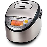 Tiger JKT-S18U 10-Cup (Uncooked) Multi Purpose IH Cooker (Rice Cooker Synchro-Cooker Slow Cooker Bread Maker etc.) with Tacook Cooking Plate 【Creative Arts】 [並行輸入品]