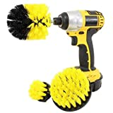 PIONEERS Drill Brush Attachment 3 Pack- Power Scrubber Brush Cleaning Kit - All Purpose Drill Brush for Bathroom Surfaces, Gr
