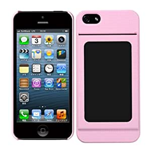 Bluevision iPhone 5s/5用ケース OsaifuSlim for iPhone 5s/5 非接触ICカード収納可能ハードケース - ピンク BV-OSIP5-PK