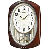 SEIKO CLOCK (セイコークロック) 掛け時計 電波 アナログ トリプルセレクション・メロディ 回転飾り濃茶マーブル模様 AM239H