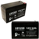 2xパック - APC SMART-UPS 750 SUA750VS 互換バッテリー : APC UB1280 シールド鉛蓄電池 バッテリー対応 (8Ah, 12V, SLA, AGM)