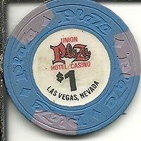 $ 1 Union Plazaカジノチップラスベガスネバダ州ブルー