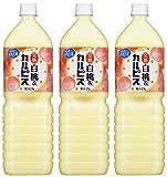 アサヒ飲料 完熟白桃&カルピス 1500ml×3本