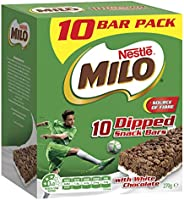 NESTLÉ Milo Snack Bars Dipped with White Chocolate, 10-Pack, 270g