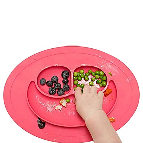 シリコン 食品 フード プレートトレイ 食器ホルダー 幼児向け