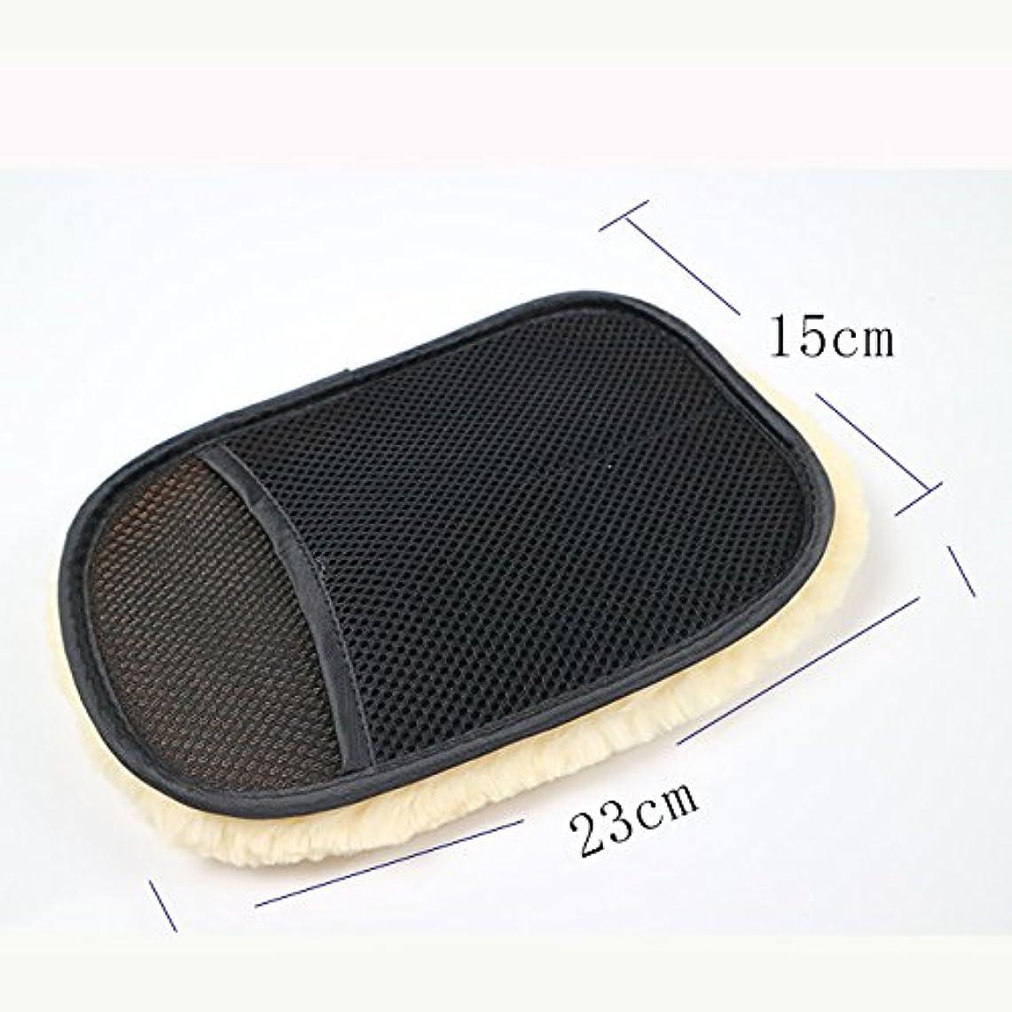 アセマーチャンダイジングレプリカBTXXYJP カースタイリングウール 洗濯手袋 クリーニング ブラシ オートバイ ウォッシャーケア 5ペア (Color : Black, UnitCount : 5 pair)