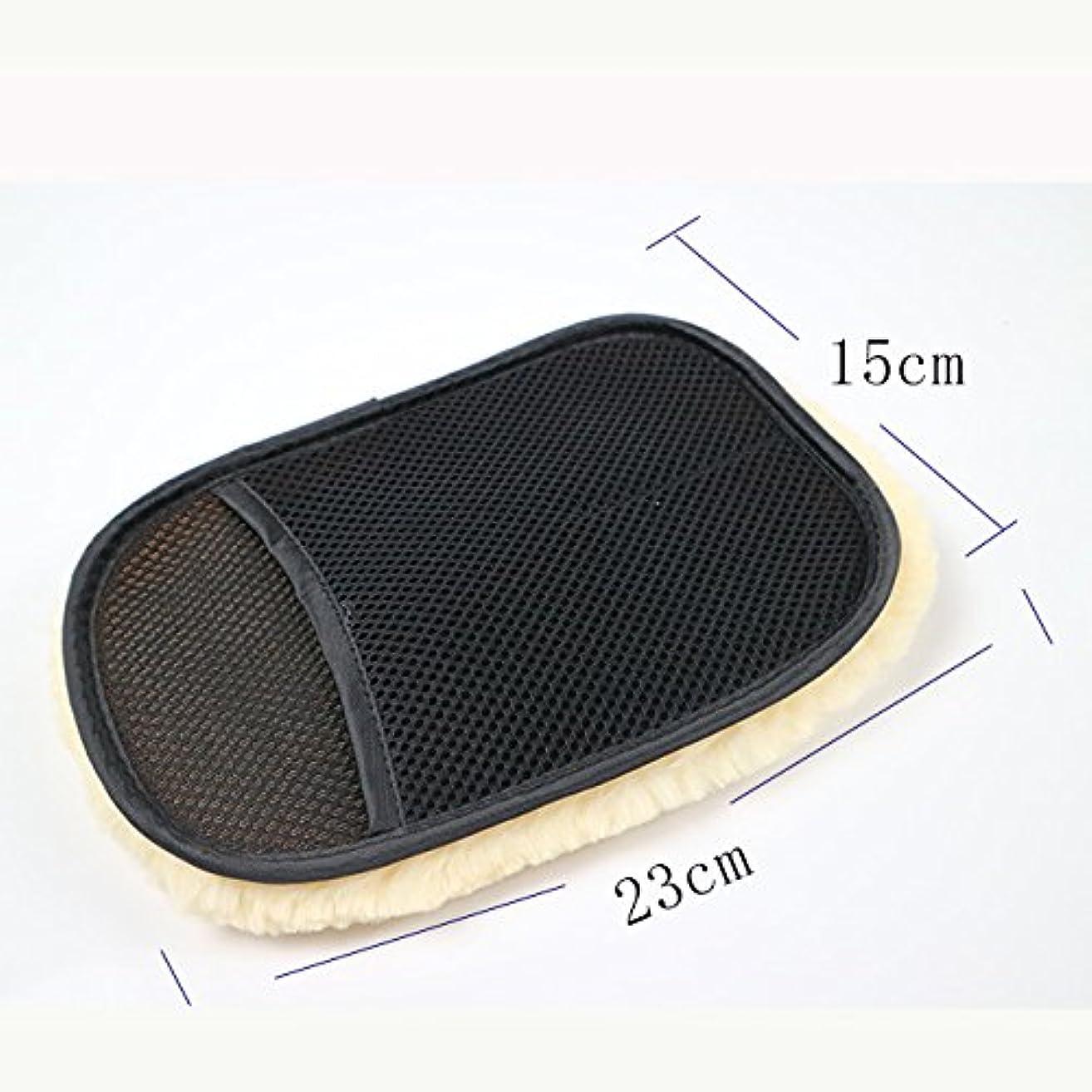 インキュバス無声で狂人BTXXYJP カースタイリングウール 洗濯手袋 クリーニング ブラシ オートバイ ウォッシャーケア 5ペア (Color : Black, UnitCount : 5 pair)