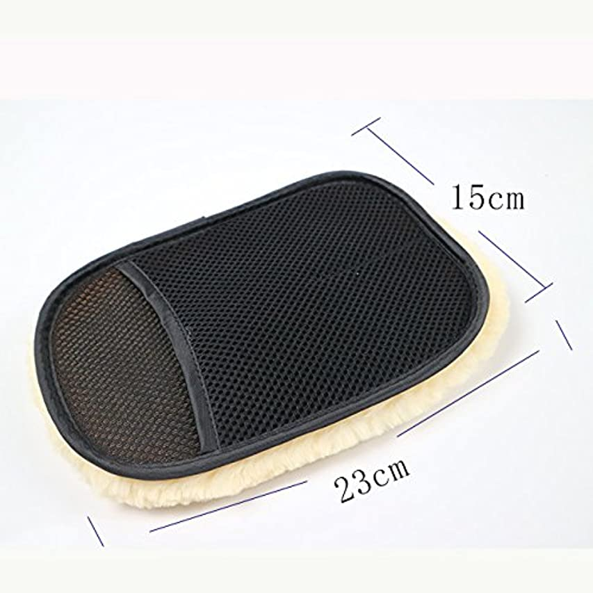 魂二層またBTXXYJP カースタイリングウール 洗濯手袋 クリーニング ブラシ オートバイ ウォッシャーケア 5ペア (Color : Black, UnitCount : 5 pair)