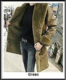 [TRENDY FS]♪ 真冬まで暖かい ロングムートンコート/2色 (L, グリーン) [並行輸入品]