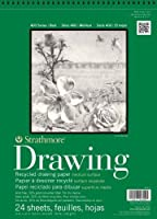 Strathmore STR-443-12 24 Sheet Recycled Drawing Pad, 12 by 24.5 by Strathmore