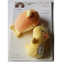Child of Mine Seaside Pals Bath Set - Sponge & Squirter - Yellow [並行輸入品]