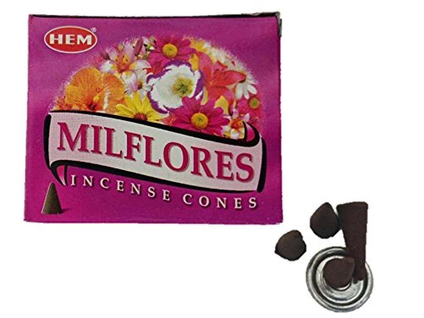 偏心ふりをする追い払うHEM(ヘム)お香 ミルフローレス コーン 1箱