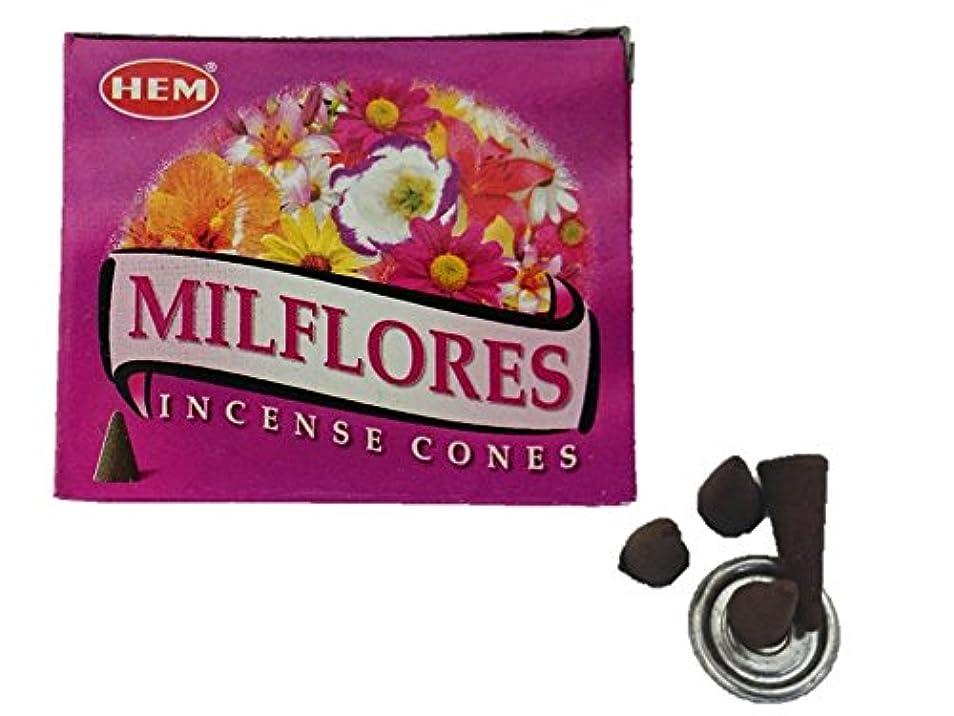 調和のとれた説明的ポップHEM(ヘム)お香 ミルフローレス コーン 1箱