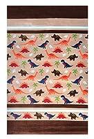 """homemusthavesスーパーソフトベージュブラウン恐竜デザインKidsエリアラグカーペットパッドNon Skid Ideal for any寝室、プレイルーム、( 55"""" x 79"""" )"""