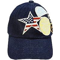 ベビー帽子 子供帽子 野球帽 キャップ デニム ワッペン DaddyOhDaddy ダディオダディ 53cm B57410