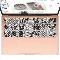 igsticker MacBook Air 13inch 2018 専用 キーボード用スキンシール キートップ ステッカー A1932 Apple マックブック エア ノートパソコン アクセサリー 保護 004476 アニマル ヘビ柄 模様 白 黒