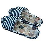 BIRKENSTOCK 通販 涼しくて夏に最適 健康スリッパ 天然石付 足つぼマッサージ Mサイズ (M, ブルー)