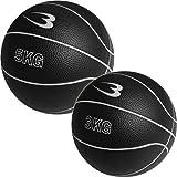 [ボディメーカー] メディシンボール 2個セット 5kg&3kg ブラック MBG25/MBG23