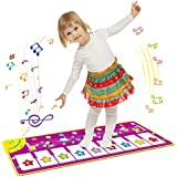 Coolplay Piano Mat, Animal Pattern Baby Touch Play Keyboard Musical Multi Function Crawling Canvas, Print Piano Carpet Mat Blanket Early Education Tool