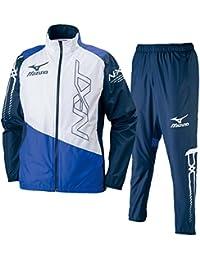ミズノ(MIZUNO) N-XT ウィンドブレーカーシャツ&パンツ 上下セット(ドレスネイビーサーフブルー) U2ME7510-14-U2MF7510-14