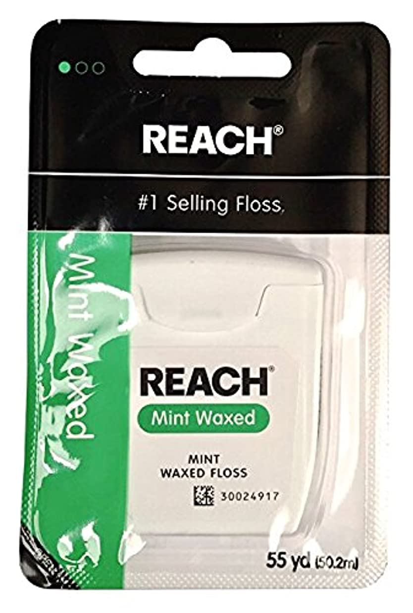 REACH Mint Waxed Floss 55 yds 6 pack (50.2 m) [並行輸入品]