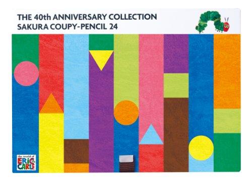 サクラクレパス クーピーペンシル 24色+ぬりえ絵本「はらぺこあおむし」 FY24ハラペコアオムシ