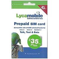 アメリカ ハワイSIM lycamobile 初月料金コミコミパック LTE通信6GB/通話/テキスト/データ/国際通話も全部コミコミ