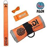 PADI シグナルフロート ホイッスル&サーフェスシグナルマーカー セット 80259j (オレンジ)