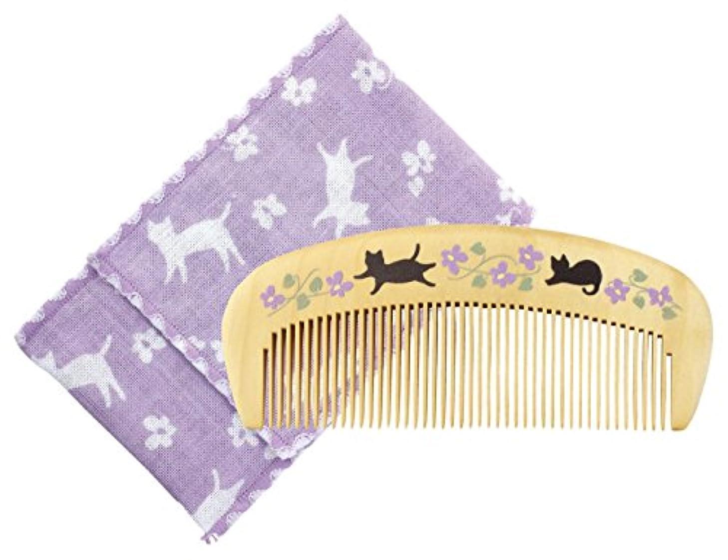 マウスピース匿名電気のくろちく 椿堂潤いつげ櫛ケース付 花猫