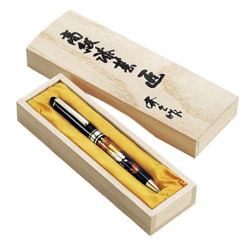 東出漆器 高級蒔絵ボールペン 黒(桐箱入)(R) 1398...