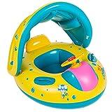 ベビー・幼児用 ベビーフロート 足入れ式 屋根付き 子供用浮き輪 水泳補助具 ハンドル付き 6-36ヵ月