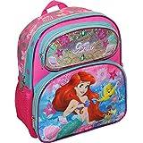 """Disney Princess Little Mermaid Ariel Girl's Pink 12.5"""" School Backpack Book Bag"""