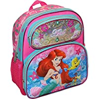 "Disney Princess Little Mermaid Ariel Girl's Pink 12.5"" School Backpack Book Bag"