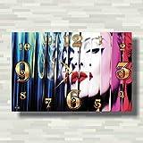 """Madonna 17"""" x 11"""" 壁時計(マドンナ)あなたの友人のための最高の贈り物。逆にしているメカニズム。あなたの家のためのオリジナルデザイン"""