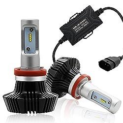 Autofeel Ledヘッドライトバルブ H8 H11汎用 6500K 8000LM (H11 H8)