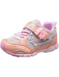 [スーパースター] 運動靴 通学履き バネ バネのチカラ 女の子 軽量 マジック ゆったり SS K798