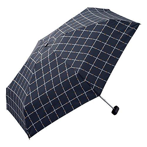 wpc-187-186 50cm フラワーチェック-ネイビー(344-187) (ワールドパーティー) W.P.C 折りたたみ傘 POUCH 折り畳み 傘 晴雨兼用 雨傘 日傘 軽量 コンパクト wpc-187-186
