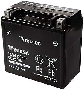 TAIWAN YUASA [ 台湾ユアサ ] シールド型 バイク用バッテリー YTX14-BS
