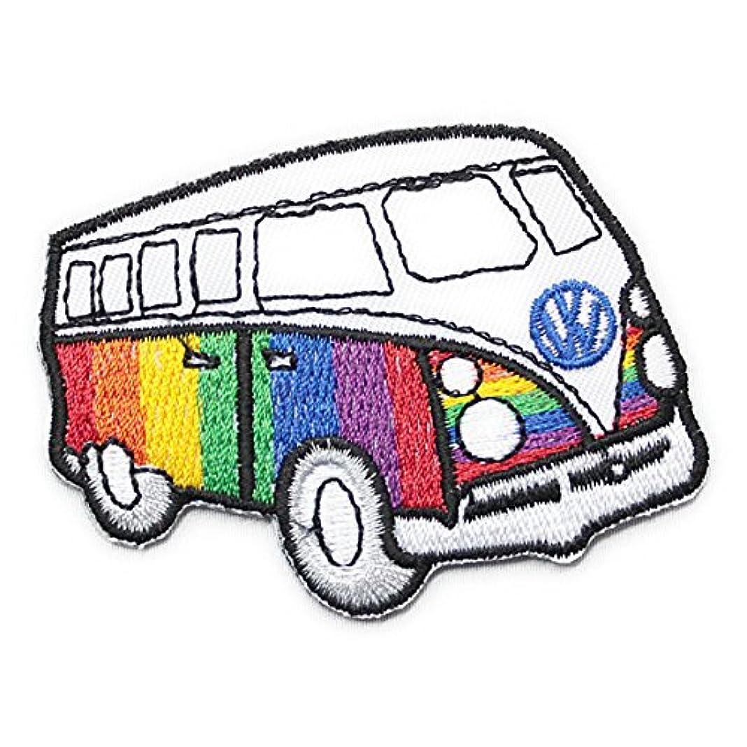 不幸マチュピチュエキスパートノーブランド品 Volkswagen フォルクスワーゲン CARandBIKE ワッペン レインボー