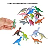 []BooBooLaLa LLC 24Piece Set of Mini 3 Plastic Dinosaurs! Assorted Colors & Styles! Great Fundraiser, Party Favor, & [並行輸入品]